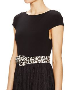 Ruey Belted Lace Dress from alice + olivia Apparel on Gilt