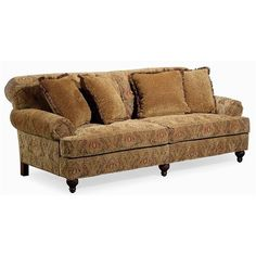 Elegance Stationary Sofa with Turned Feet by Century - Baer's Furniture