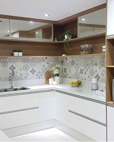 36 Fabulous Modular Kitchen Designs Ideas That Inspire You - Whenever there is a talk of kitchen, it is considered the most important part of house for women. So, the decoration and care of kitchen is as importa. Kitchen Room Design, Kitchen Sets, Modern Kitchen Design, Home Decor Kitchen, Kitchen Furniture, New Kitchen, Home Kitchens, U Shape Kitchen, Modern Kitchen Interiors