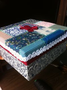 Hand Craft Piece Fabric Box