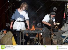 Historic Blacksmith At A Middle Ages Market - Download From Over 39 Million High Quality Stock Photos, Images, Vectors. Sign up for FREE today. Image: 26163721