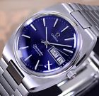 OMEGA SEAMASTER AUTOMATIC DAY&DATE CAL 1020 BLUE DIAL DRESS MEN'S WATCH