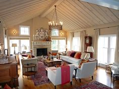 Sarah Richardson's Farmhouse Family Room
