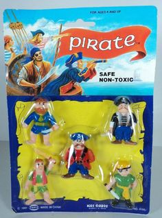 90's SOMA Pirate Action Figures - PVC Pirates - MOC - Kid's Goods #Soma