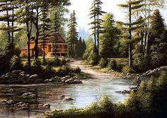 Photo: Artist Bill Saunders. Very nice painting! ♥