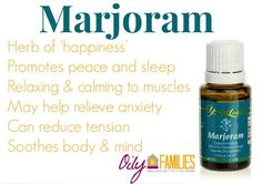 We use this for our sore muscles #Marjoram #EssentialOils Enroll with a Premium Kit and I will bless you with a FREE book!