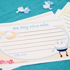 New Baby Advice Notes Game