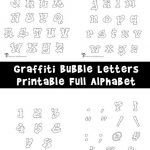 A full set of printable alphabet graffiti bubble letters, including upper and lowercase, punctuation and characters. Alphabet Letters To Print, Bubble Letter Fonts, Printable Alphabet, Baseball Letters, Baseball Decorations, Printable Flower, Rainbow Bubbles, Flower Letters, Letter Set