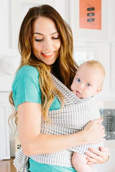 Natural & Grey Stripe - Solly Baby Wrap