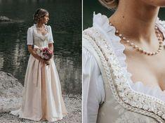 Marrymag traditional wedding in the mountains. Drindl Dress, The Dress, Traditional Wedding, Traditional Dresses, German Wedding, Bridal Dresses, Prom Dresses, 1800s Fashion, Glamorous Wedding