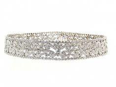 Diamond Choker Necklace in Platinum