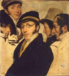 Francesco Hayez, Autoritratto in un gruppo di amici, 1824. Olio su tela, 32,5×29,5 cm. Museo Poldi Pezzoli, Milano