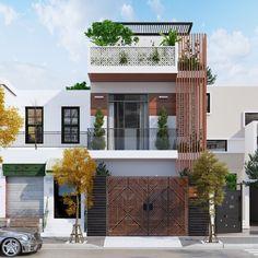 48 Ideas Exterior Cladding Facades House Window For 2019 Design Exterior, House Paint Exterior, Exterior House Colors, Facade Design, Architecture Design, Exterior Shutters, Tiny House Exterior, House Front Design, Small House Design