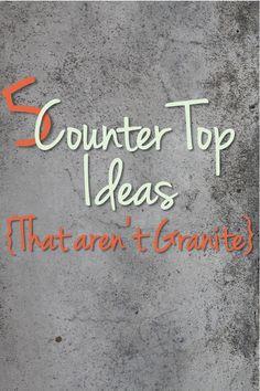 5 Counter Top Ideas