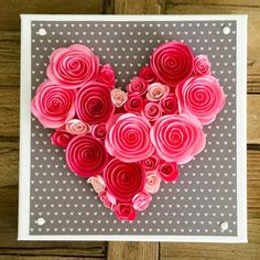 Make this easy Valentine's Day Wall Art in just 10 minutes!! Perfect for a wedding gift, too.