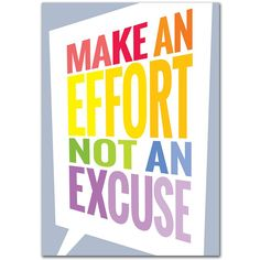 MAKE AN EFFORT INSPIRE U POSTER