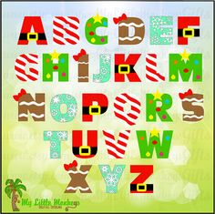 Christmas Alphabet Design Commercial Use SVG Cut File Instant Christmas Time, Christmas Crafts, Christmas Decorations, Holiday, Design Alphabet, Christmas Alphabet, Doodle Lettering, Cricut Craft Room, Christmas Drawing