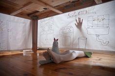 Designer Mama tablecloth by Pani Jurek by PaniJurek on Etsy, $350.00