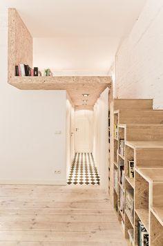 Books stairs