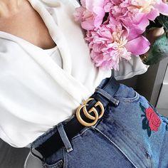 Gucci Belt Outfit Inspo by @LilyLikecom