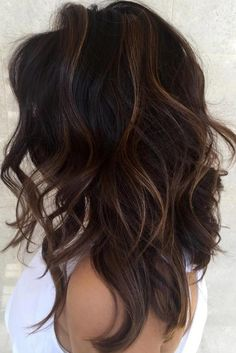38 Top Balayage Dunkelbraunes Haar Balayage Haarfarbe Ideen - Tattoo For Women Ideas - Dream Garden - Sweety Home Decor - Dark Hair Styles - Jewelry Organizer DIY Brown Hair Balayage, Hair Color Balayage, Chocolate Brown Hair With Highlights, Full Balayage, Haircolor, Dark Hair Lowlights, Toner For Brown Hair, Dark Hair With Balayage, Ombre For Dark Hair