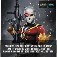 #deadshot is such a #badass ... can't wait for #suicidesquad  Follow @eNebriated for more awesome #geektent all day everyday.  #dcuniverse #comics #comiccon #dc #dccomics ##geek #geeky #nerdygirl #geekygirl #geekyguy #nerdy #talknerdytome #sdcc #wondercon #fact #facts #true #truth #comicfacts #dcfact #harleyquinn #joker #willsmith #benaffleck #brucewayne #batman