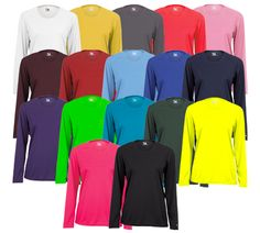 Badger Ladies B-Core LS - Great for a warm-up shirt, jersey or fanwear!    Many different color options.  Printing available.