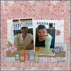The Hens Den: Layout by Carolyn Lontin featuring: Little Yellow Bicycle - Saturdays