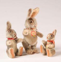 Beautiful Vintage Steiff Bunnys
