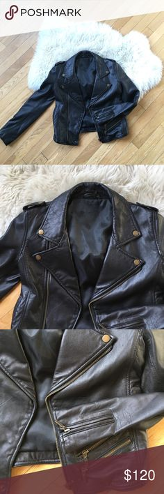Bespoke 100% Lamb Skin Leather Jacket This leather jacket looks brand new! It is in excellent condition. It has been well loved and now is looking for a new home because it no longer fits me. Jacket is dry cleaned! Jackets & Coats