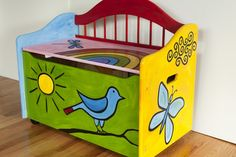 beautiful bench for toys