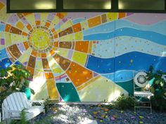 Love this mural. Could definitely incorporate mosaics with it too.