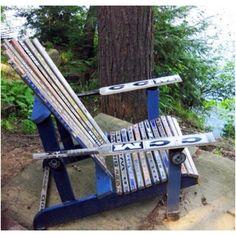 Hockey stick chair! I wish they still used wooden sticks