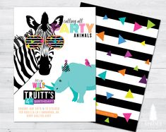 party animal birthday invitation party animal invitation zoo Source by sammyoropallo Double Birthday Parties, Neon Birthday, Animal Birthday, Birthday Ideas, 2nd Birthday, Horse Birthday, Balloon Birthday, Party Animals, Animal Party