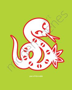 Year of the Snake Modern Print by moderngenes on Etsy, $20.00