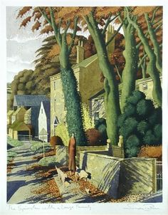 'The Spinster with a Large Family' by Simon Palmer (pencil, ink, watercolor and gouache)