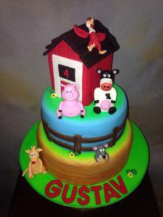 "Back at the Barnyard cake by ""Fantasy Cakery"""