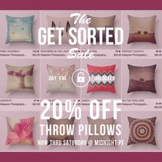 <3 <3 20% Off All My Throw Pillows On My Society6 Shop Only Today <3 <3 Use the following link to go to my pillow collection and pick your favourite ^_^ http://society6.com/katayoonphotography/pillows #pillow #cushion #decor #homedcor #art #photo #design #artsy #decorideas #homedecorideas #gift #giftideas #nature #flower #floral #elegant #classy #beautiful #pretty #cozy