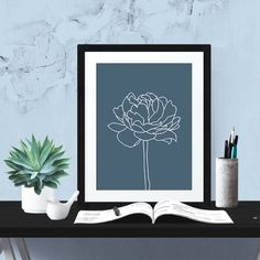 Really neat Navy and White Rose Printable Poster -  Floral Poster - Printable Poster - Digital Download - 300 DPI - 8 x 10 inches - PDF & JPEG 5.00 USD from BrandiLeaDesigns poster download printable poster instant download digital poster printable wall art digital print print download typography poster welcome poster watercolor poster flower poster wall art navy and white http://ift.tt/21lWy2k