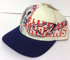 New Cleveland Indians Hat Relaxed Fit Cotton Navy Blue Red