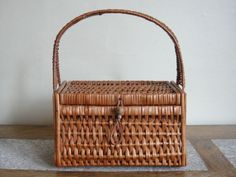Small Wicker Bag Handbag 9.5 or 24cm. by DaylightFrockery on Etsy, £20.00