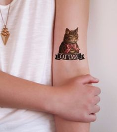 A temporary tattoo for cat ladies.