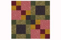 Sew Four Square, an Easy Patchwork Quilt Block