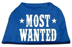 Most Wanted Screen Print Shirt Blue XS (8)