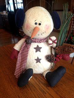 Primitive snowman decoration country snowman by LoveAmyCakes, $45.00