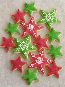 Decorated Christmas Star Cookies Christmas Star Sugar Cookies