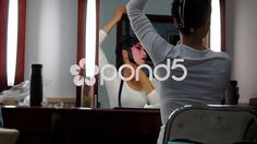Peking Opera actress pasting Tiepian on the forehead and sideburns - Stock Footage | by YPPictures