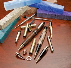Pen turning is a popular hobby and side business for woodworkers and it may seem daunting at first but turning your own pens on a lathe is a fun activity and these pen kits make it even easier.