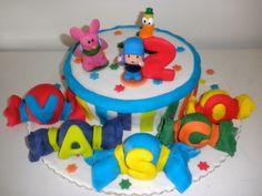 pocoyo & stars cake / bolo pocoyo e estrelas