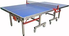 Garlando Pro Indoor/Outdoor Table Tennis Table, Blue Top